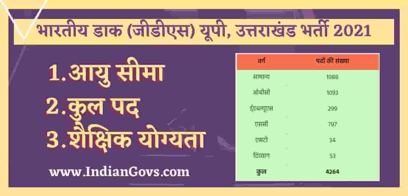 india post up uttarakhand recruitment 2021 in hindi