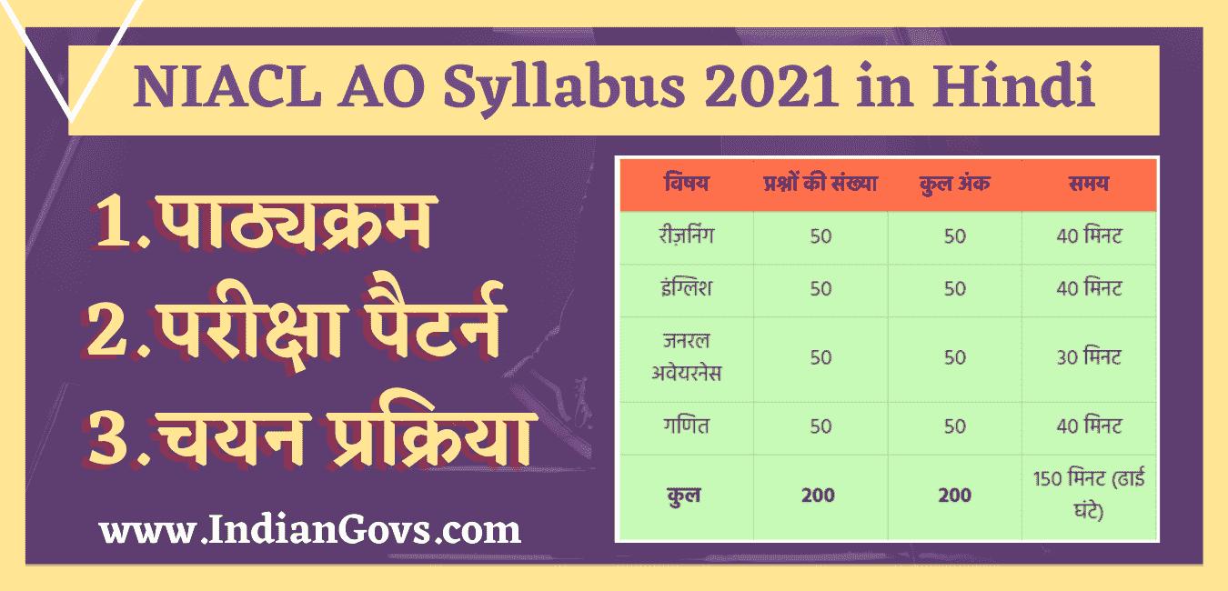 niacl ao syllabus 2021 in hindi