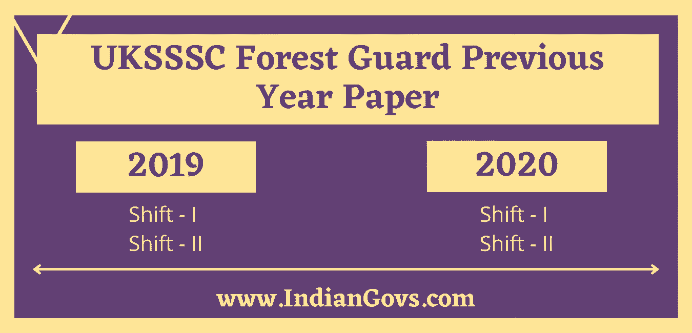 uksssc forest guard previous year paper in hindi